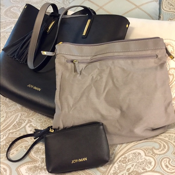 Joy Mangano Handbags - Joy/Iman leather tote bag
